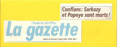 Article La Gazette du Val d'Oise 1 Sarko DCD 15 07 09 b