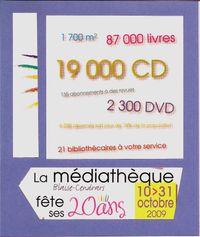 LES 20 ANS DE LA MEDIATHEQUE