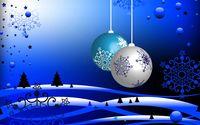 Boules bleues de noelnoel