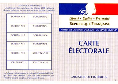 CARTE D'ELECTEUR PHOTO