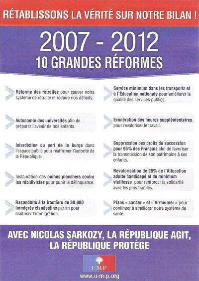 TRACT UMP 2007-2012 10 GRANDES REFORMES RECTO