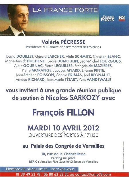 INVITATION FILLON A VERSAILLES 10 04 12