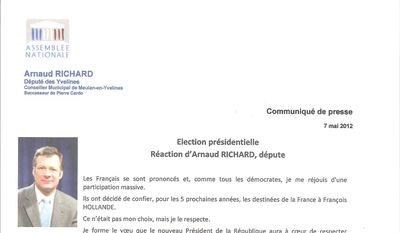 C DE P ARNAUD RICHARD DU 07 05 2012 BIS