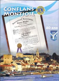 20 ANS DU LIONS CLUB CONFLANS MONTJOIE