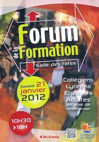 FORUM DE LA FORMATION 2012