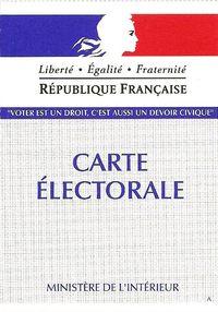 CARTE D'ELECTEUR 2012