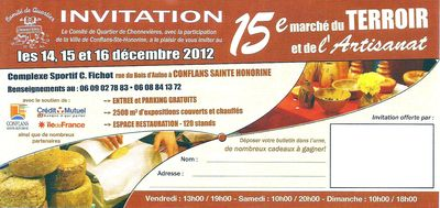 INVITATION MARCHE DU TERROIR 2012