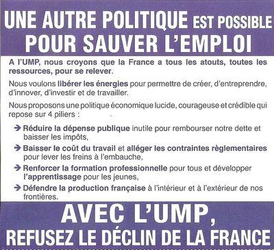TRACT UMP VERSO PS = 1000 CHOMEURS DE PLUS PAR JOUR