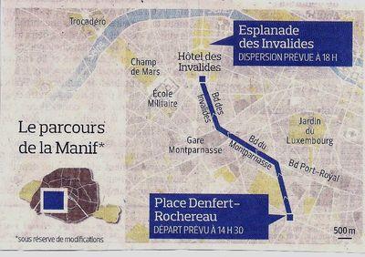 Budget 2013Parcours Manif Mariage Pour Tous 210413