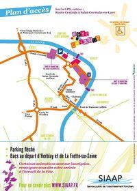 Plan accès Fête Lavande 30 juin 2013 Maisons Laffitte